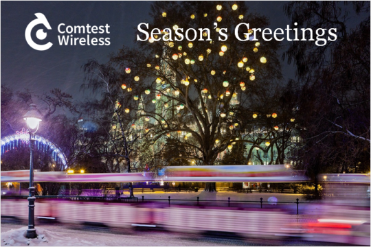 Comtest Wireless christmas card