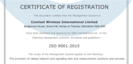 Comtest Wireless achieves ISO 9001 quality management across the Group